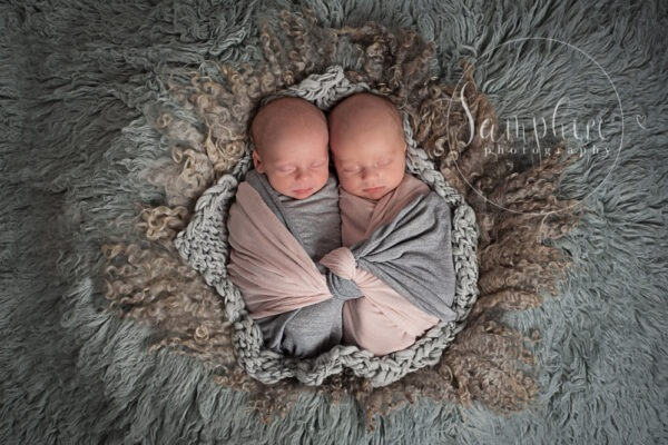 Newborn Twins 2017 by Samphire Photography