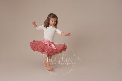 Samphire Photography studio portrait photo tutu pink Brighton Sussex