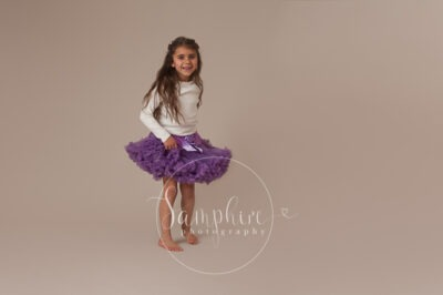 Samphire Photography studio portrait photo tutu purple Sussex