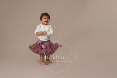 Samphire Photography studio portrait photo tutu purple horsham sussex