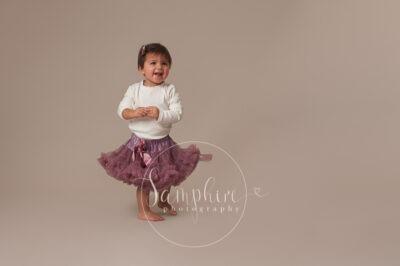 Samphire Photography studio portrait photo tutu purple horsham sussex