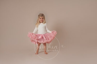 Samphire Photography studio portrait photo tutu pink sussex