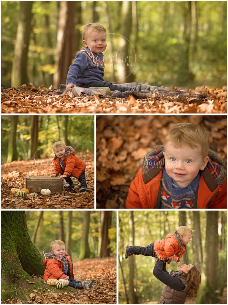 Samphire Photography autumn leaves family sitter location Horsham pumpkins