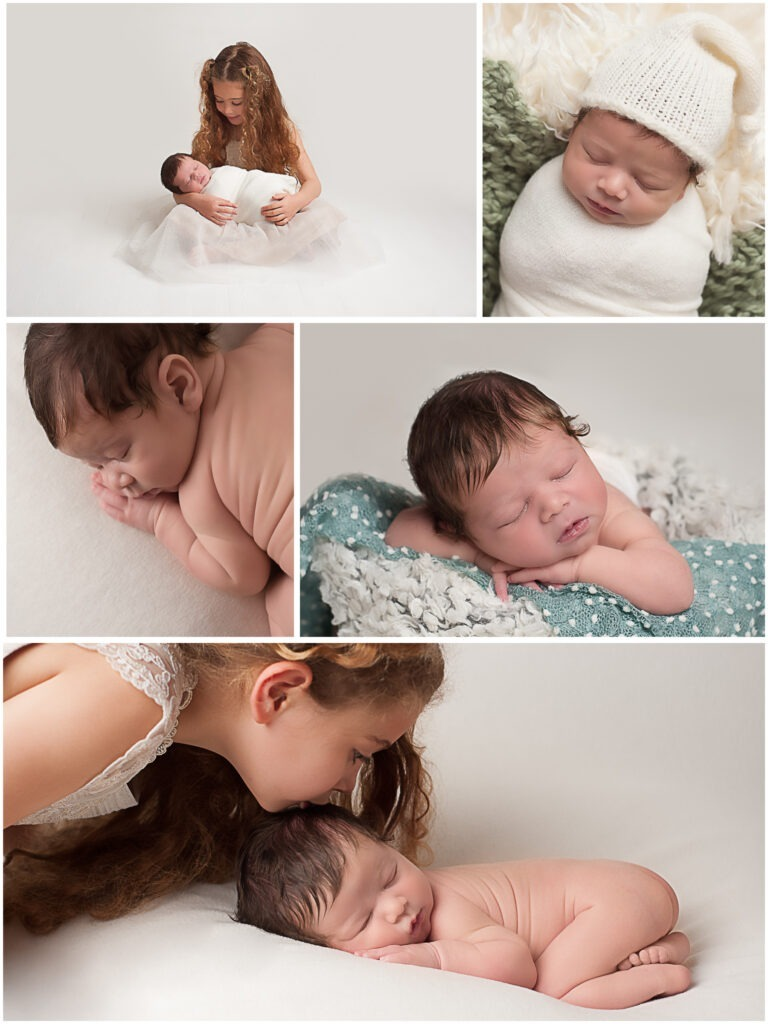 Newborn portraits with sibling studio Horsham West Sussex by Samphire Photography