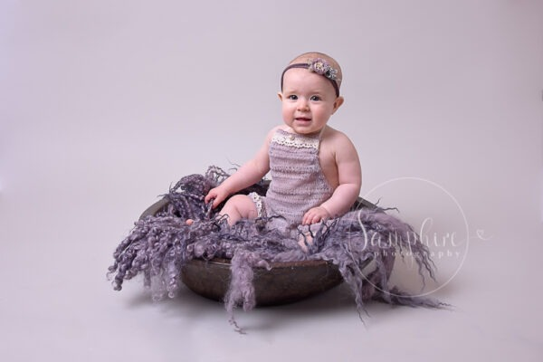 baby portraits horsham sussex purple headband bowl Samphire