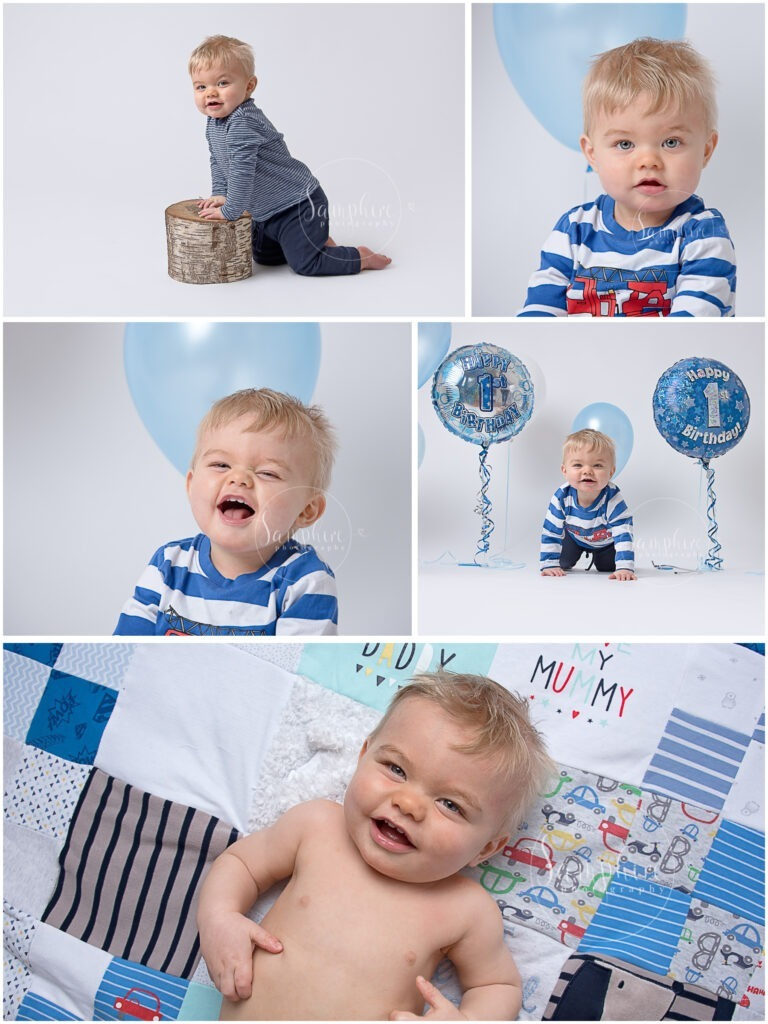 baby studio happy first birthday portraits milestone by Samphire Photography Horsham Sussex