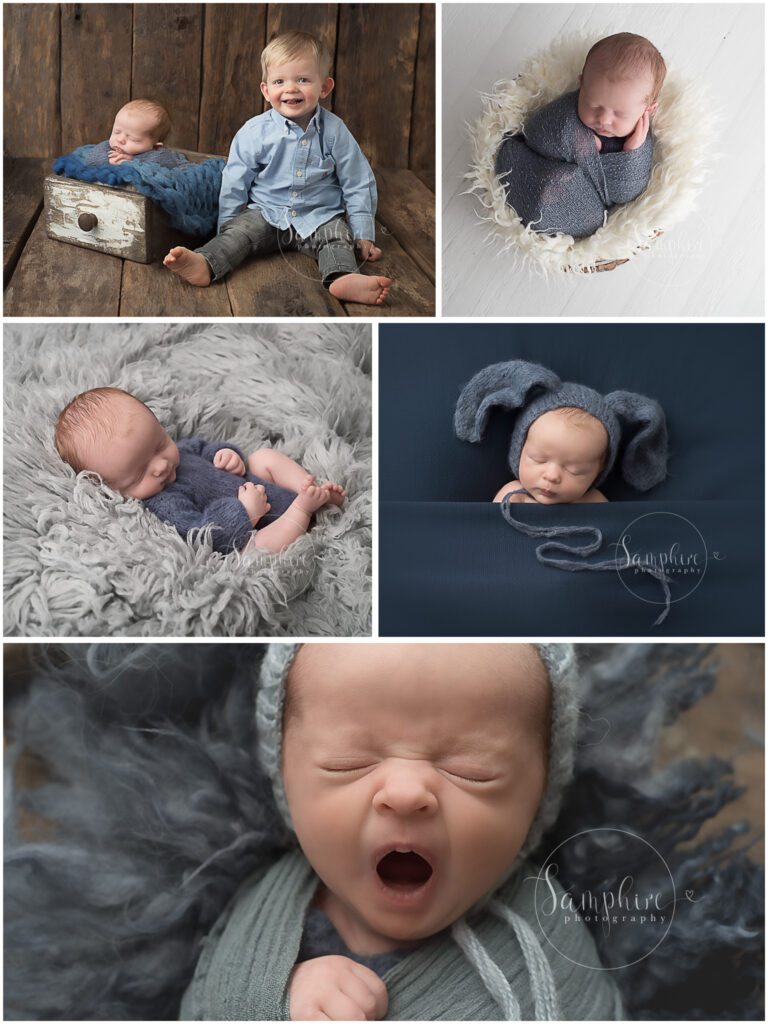 Samphire Photography Billingshurst Newborn Photographer Sussex baby boy portraits specialist sleeping sibling