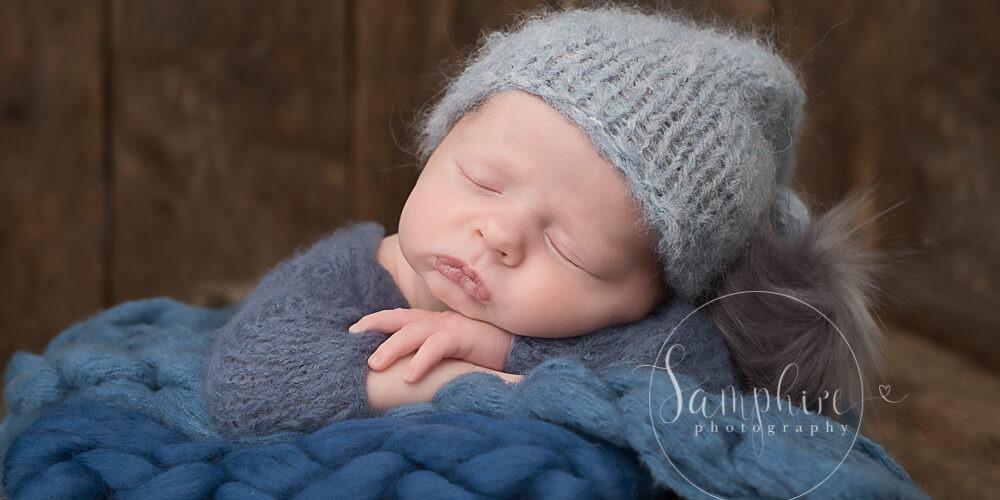 Samphire Photography Billingshurst Newborn Photographer baby boy portrait specialist Sussex sleeping