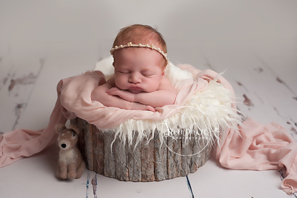sleeping wrapped newborn baby Samphire photography horsham babies sitter sessions baby portraits Brighton sussex