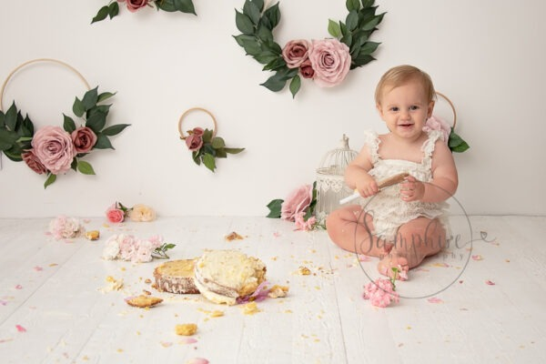 Cake Smash Near Me | Pretty in Pink by Samphire Photography