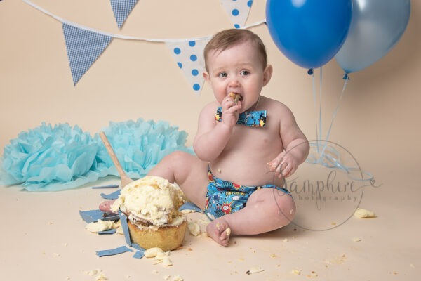 Cake Smash Photographer West Sussex | Pow! Ethan is one today