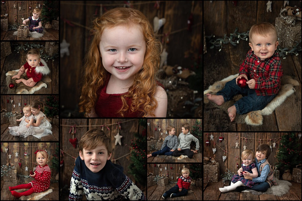 Warm and rustic christmas portraits by Samphire Photography near Horsham