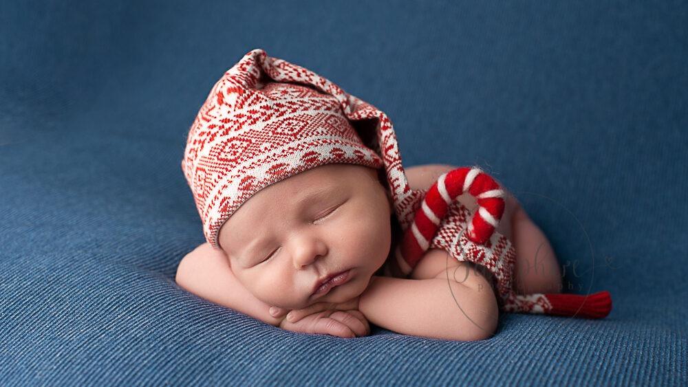 sleeping Christmas baby 2018 experienced newborn photographer horsham Samphire Photography sussex