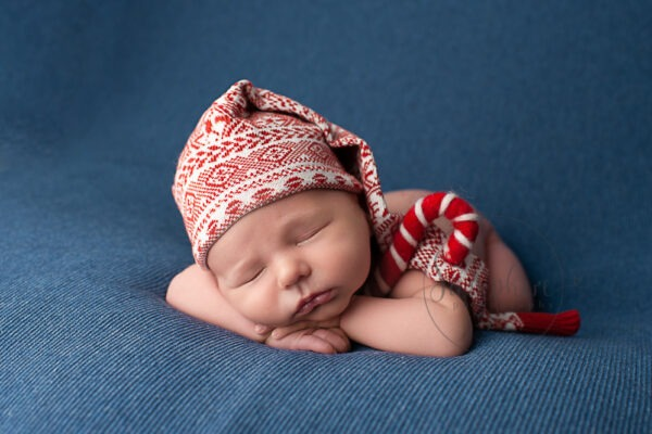 sleeping Christmas baby 2018 experienced newborn photographer horsham Samphire Photography sussex