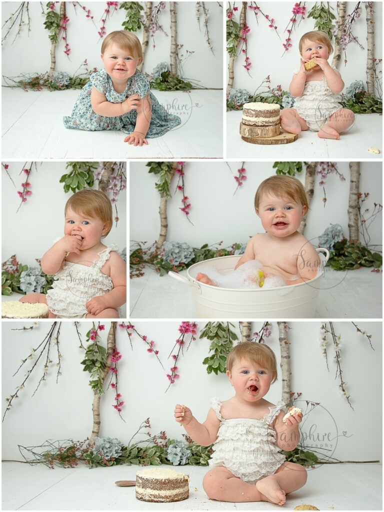 cake smash photography Sussex flowers floral by Samphire Photography