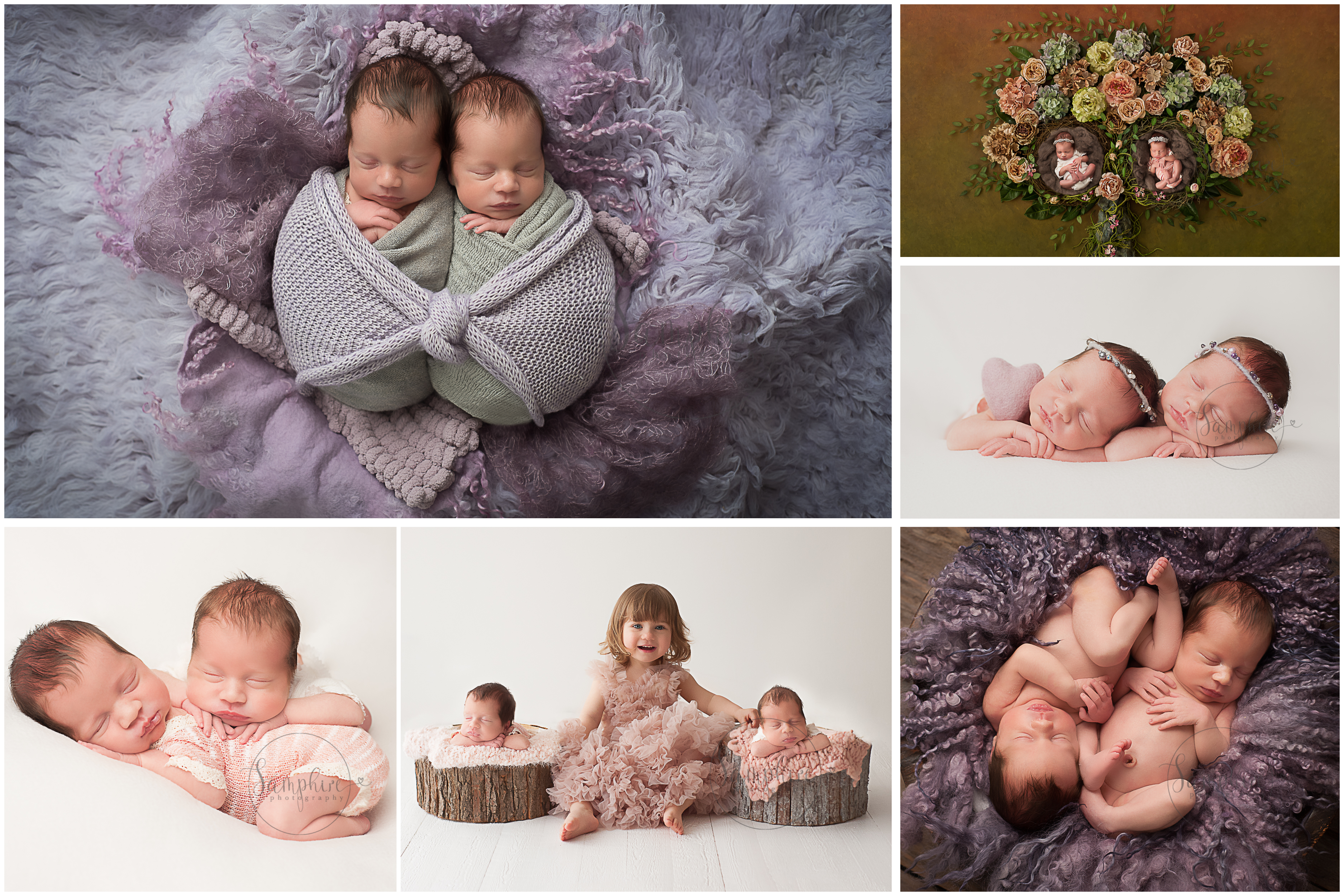 Studio Bump to baby portraits sussex twins and sibling Samphire Photography