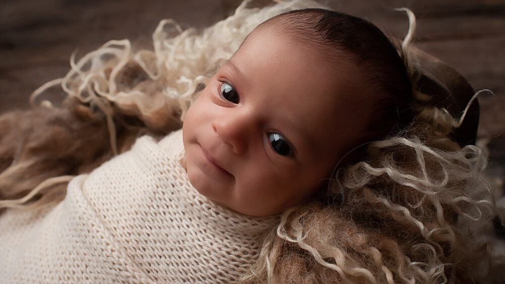 baby boy wide awake cream knit Newborn Photographer West Sussex Samphire Photography