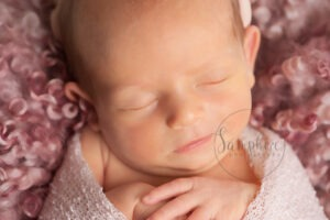 Baby's first year newborn portraits pink Samphire Photography Sussex