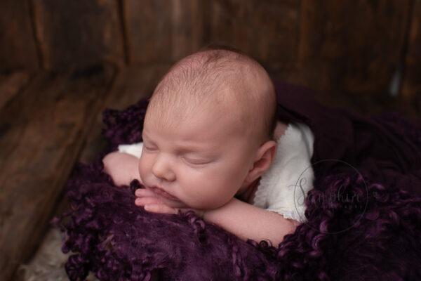 Samphire Photography newborn baby girl Horsham studio portraits