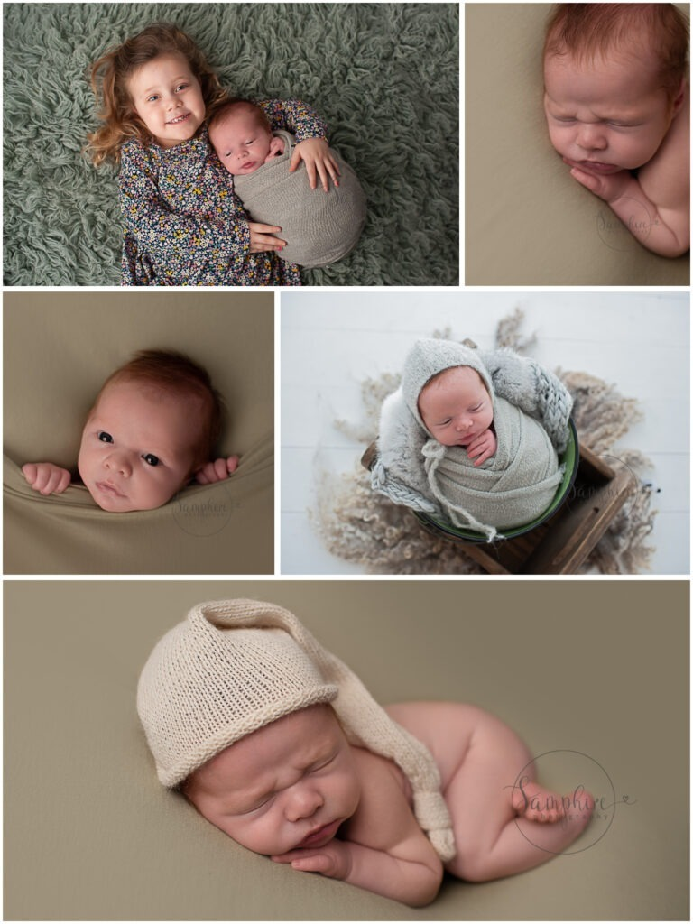 studio portraits sibling newborn photographer Southwater Samphire Photography