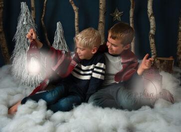 Brothers winter wonderland christmas portraits sussex