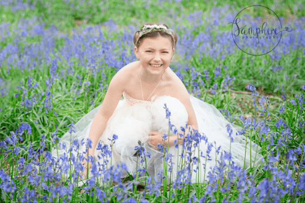 bluebell portraits Sussex outdoors photoshoot Samphire Photography horsham