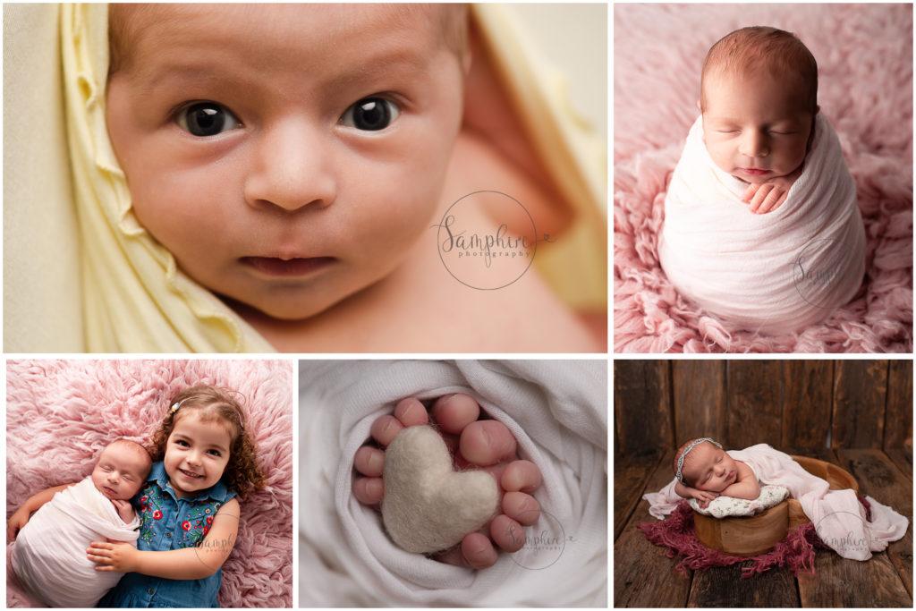 baby photographer Sussex newborn girl portraits